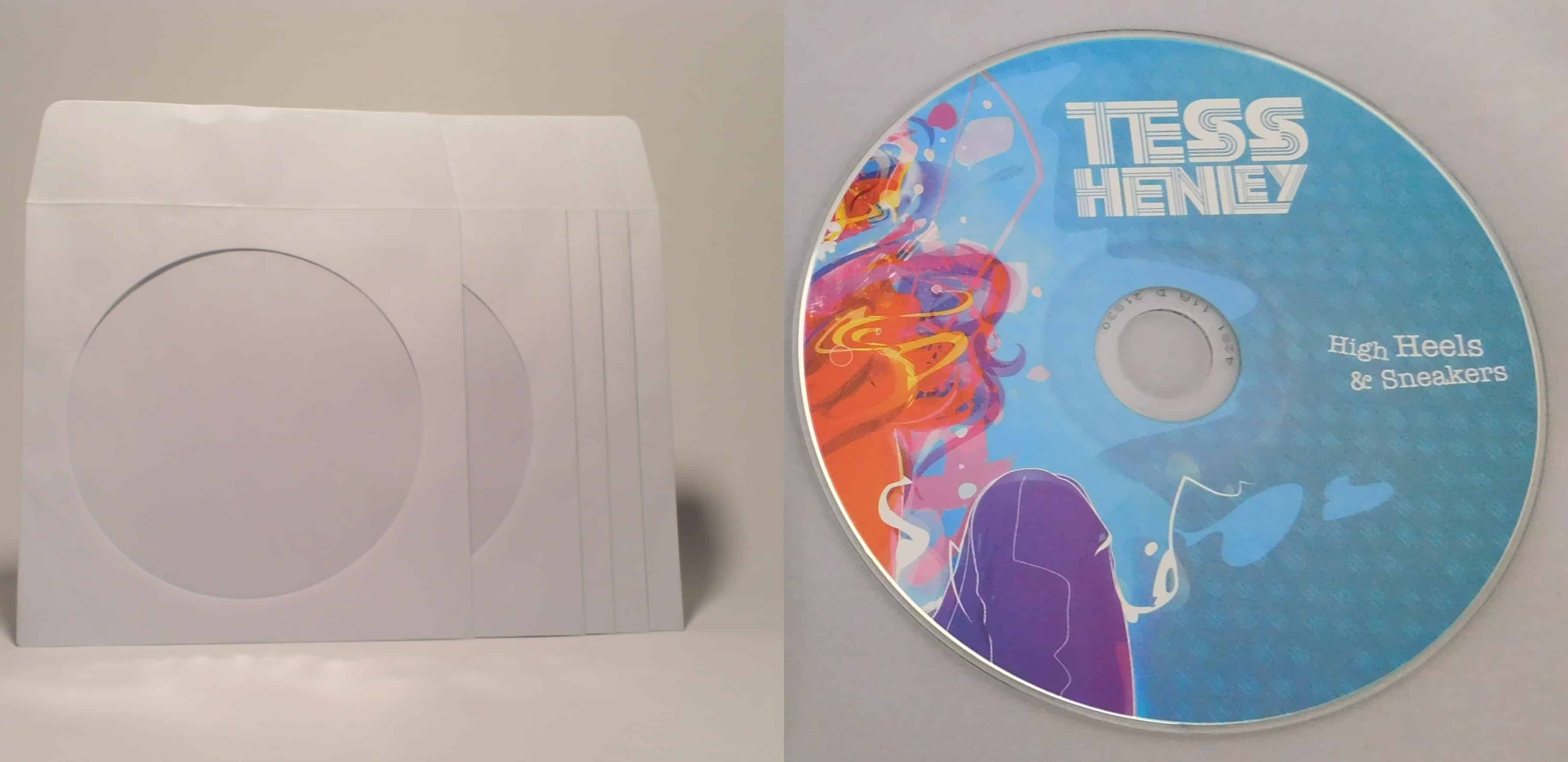 Replicated CD with White Window Sleeve - optional color insert +.20